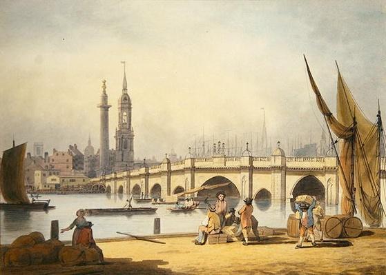 London Bridge and the Monument, c.1795