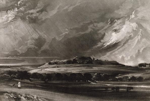 Old Sarum, engraved by David Lucas