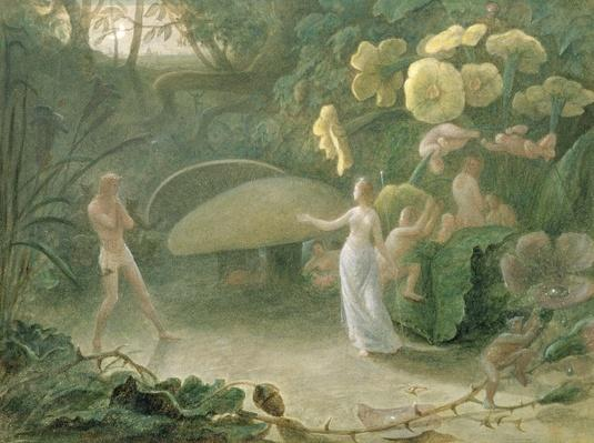 Oberon and Titania, A Midsummer Night's Dream, Act II, Scene I, by William Shakespeare