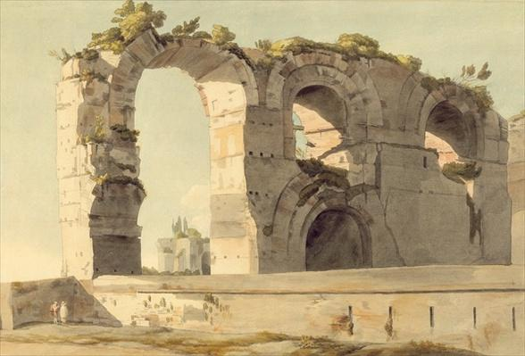 The Claudian Aqueduct, Rome, 1785