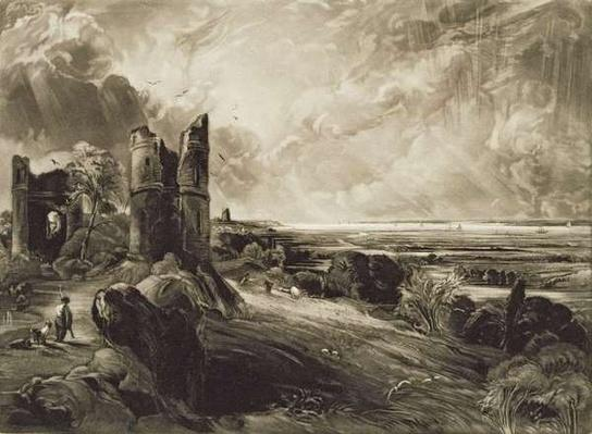 Hadleigh Castle, engraved by David Lucas