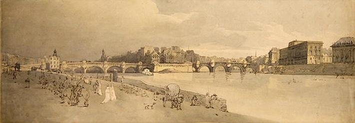 View of the Pont Neuf, The Mint & etc, c.1802
