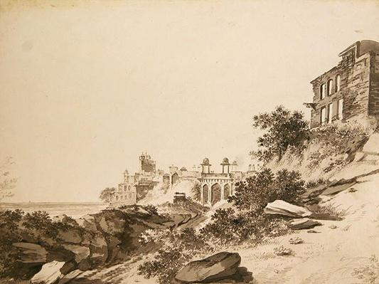 A View of the Ruins of the Palace and Mosque at Fatepur Sikri, c.1783