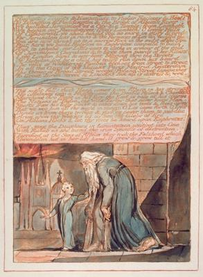 Jerusalem 'Highgates heights & Hampstead..', plate 84, from 'Jerusalem the Emanation of the Giant Albion' by William Blake