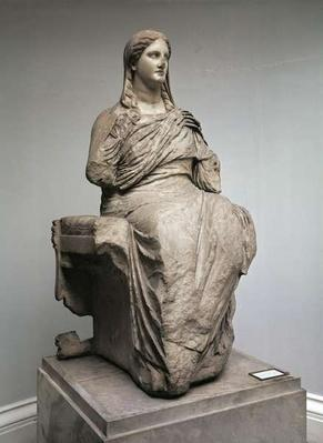 Demeter, statue from Knidos, Asia Minor, c.350BC