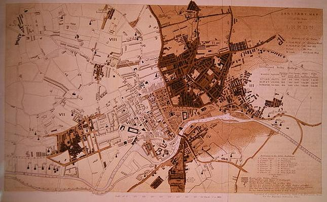 Sanitary Map of the Town of Leeds, by Stephen Sly for Her Majesty's Stationary Office, 1842