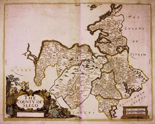 The County of Slego, from 'Hiberniae Delineatio', the 'Down Survey', 1685