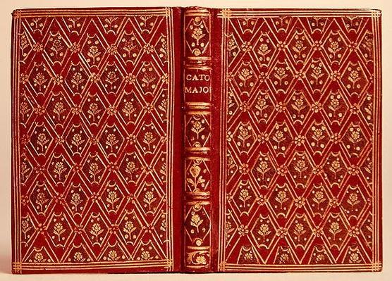 Cover of a book, possibly Cato Major de Senectute by Cicero