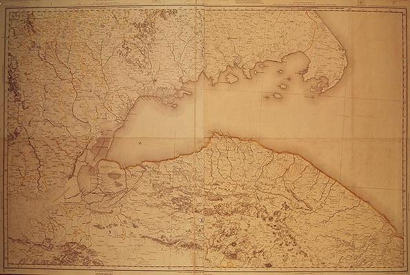 Map of Cutch and Kathiawar, published under the direction of Colonel G.C. de Pree, S.C., Surveyor General of India, 1885
