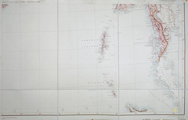 Map of the Andaman and Nicobar Islands, Bay of Bengal, 1898