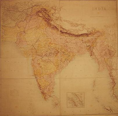 Map of India, published under the direction of Colonel J.T. Walker, C.B., R.E., F.R.S., Surveyor General of India, 1883