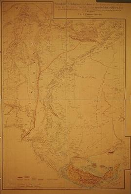 Map of the Cutch region of India and its border with neighbouring Baluchistan, by Carl Zimmerman, 1851