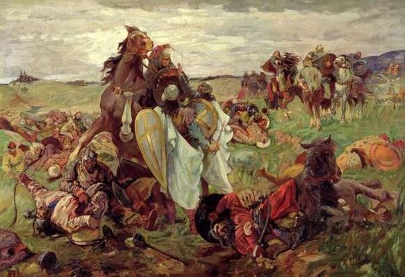 The Battle between Russians and Tatars, 1916