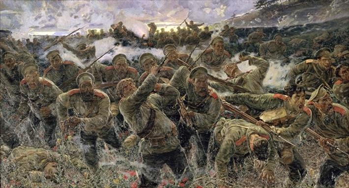 The bayonet fighting, 1904