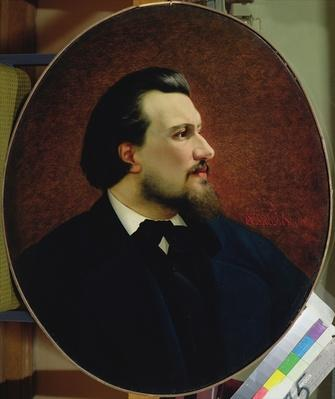 Portrait of Nikolay Leskov, 1872