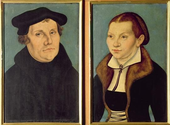 Double portrait of Martin Luther and Katherin von Bora, 1529