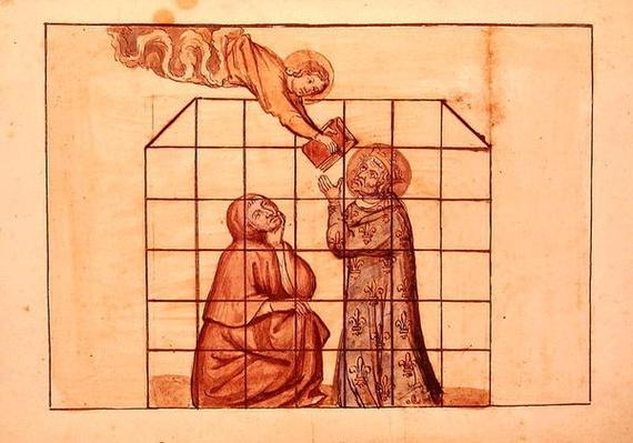 Ms 1779 fol.76v St. Louis imprisoned, from 'Memoires pour la vie de saint Louis', compiled by Nicolas Claude Fabri de Peiresc