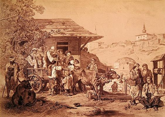 Bulgarians near Varna, printed by Lemercier, Paris