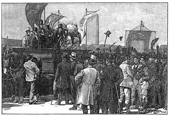 The Chartist Demonstration on Kennington Common, 10th April 1848, 1886