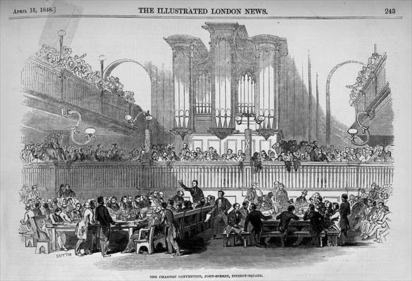 The Chartist Convention at 23 John Street, Fitzroy Square from 'The Illustrated London News', April 15th 1848