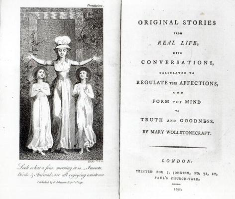 Frontispiece to 'Original Stories from Real Life' by Mary Wollstonecraft, 1791