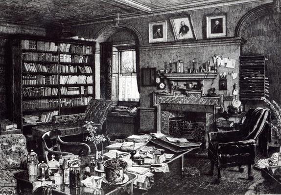 Charles Darwin's study at Down House, 1882