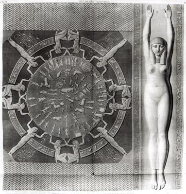 Dendera Zodiac, engraved in 1802