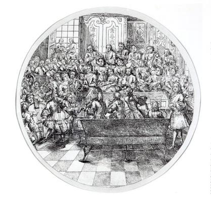Handel conducting an oratorio, c.1740