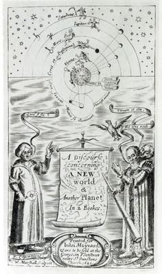Frontispiece to 'A Discourse concerning a New World and another Planet' by John Wilkins, published in 1640