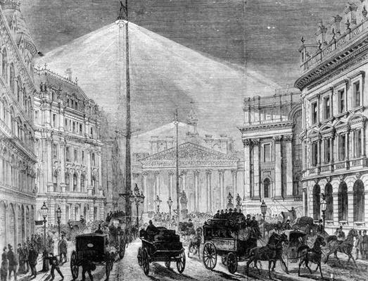 The Electric Light at the Mansion House, from 'The Illustrated London News' 1881