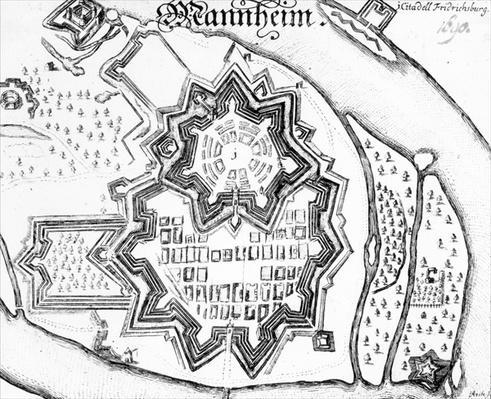 Plan of Mannheim, Germany 1690