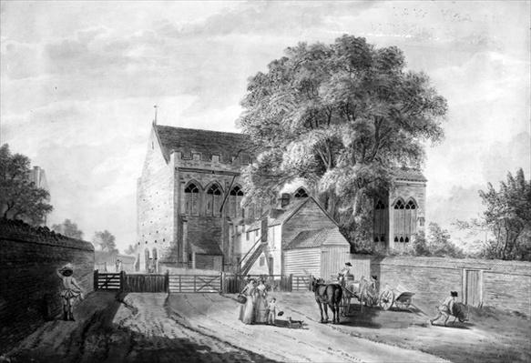North-East View of King John's Palace at Eltham in Kent, 1787