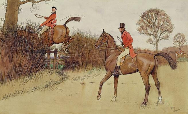 'Ar never gets off', hunting scene