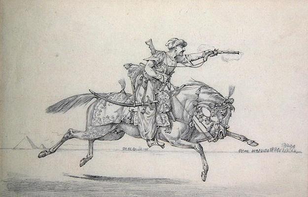 A Charging Mameluke firing a pistol