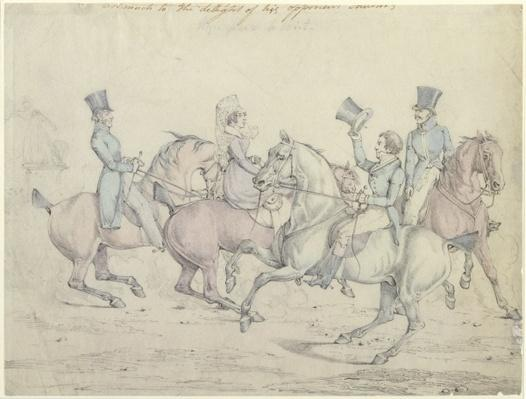 Morning Ride, original drawing for plate 12 of 'Scenes in the Life of Master George'