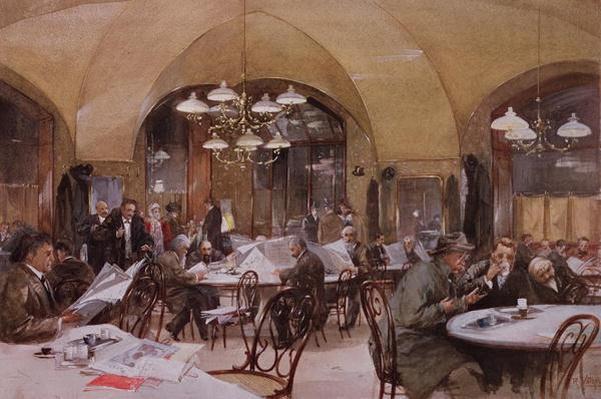 Cafe Griensteidl, Vienna, 1890
