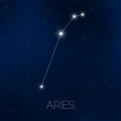 the aries zodiac sign of bright stars on background | Earth and Space