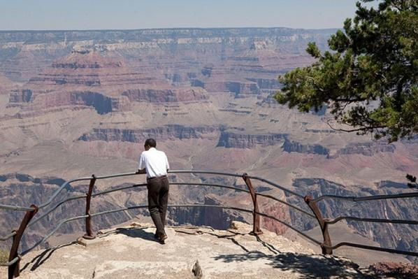 President Obama visits the Grand Canyon