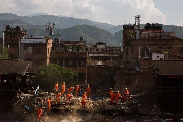 Rescue Teams Work to Clear Rubble | Global Oneness Project