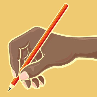 Hand with Red Pencil | Clipart