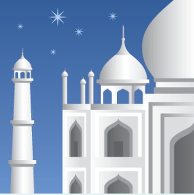 Travel Destinations - Taj Mahal | Clipart