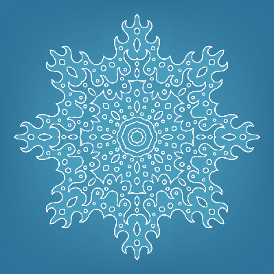 Pattern of Snowflakes for Design | Clipart