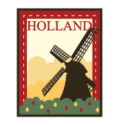 Travel Labels or Badges - Holland | Clipart