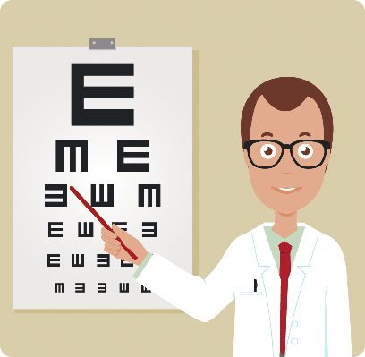 Male Ophthalmologist | Clipart