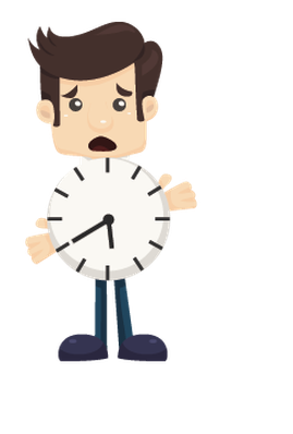 Set of Businessman and Clock | Clipart