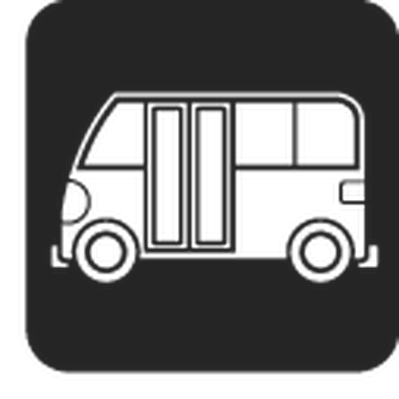 Travel and Transportation - Black & White - Bus | Clipart