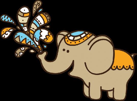 Cute Doodle Elephant | Clipart