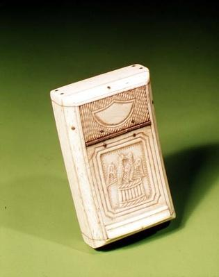 Snuff Box, made by a prisoner of war, c.1790