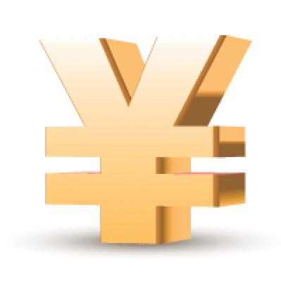 Golden Yen Symbol | Clipart