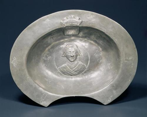 Bleeding bowl, French, 15th century, pewter
